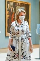 """19. Mai 2020  Königin Mathilde und König Philippe besuchen das """"Royal Museum of Fine Arts"""" in Brüssel, das nach zweimonatiger Schließung in der Coronakrise die Türen wieder öffnen wird. Damit drückt das belgische Königspaar seine Unterstützung für den gesamten kulturellen Bereich aus, der von der Krise extrem betroffen ist."""