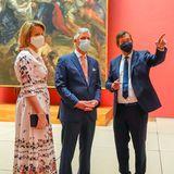 19. Mai 2020  Endlich wieder Kunst gucken! Königin Mathilde und König Philippe genießen ihren ersten Museumsbesuch nach der Coronakrise im Königlichen Museum der Schönen Künste in Brüssel. Mit Mundschutz versteht sich.
