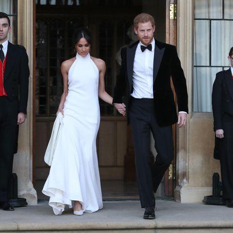 Herzogin Meghan + Prinz Harry auf dem Weg zu ihrem Hochzeitsempfangim Mai 2018