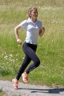 Prinzessin im Sprint: Elisabeth von Belgien trainiert schon mal für ihre Zeit auf der Militärschule, die im August beginnt.