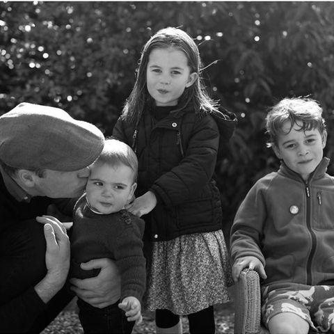 Prinz William, Prinz Louis, Prinzessin Charlotte und Prinz George