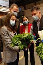 21. Mai 2020  Royaler Marktbesuch mit Maske: Königin Letizia und König Felipeunterhalten sich mit Händler desMercamadrid, des größten Marktes Spaniens über ihre Schwierigkeit in der Coronakrise, Gemüsebegutachtung inklusive.
