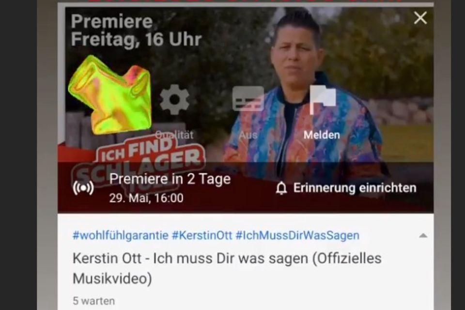 """Kerstin Otts neue Single """"Ich muss dir was sagen"""""""