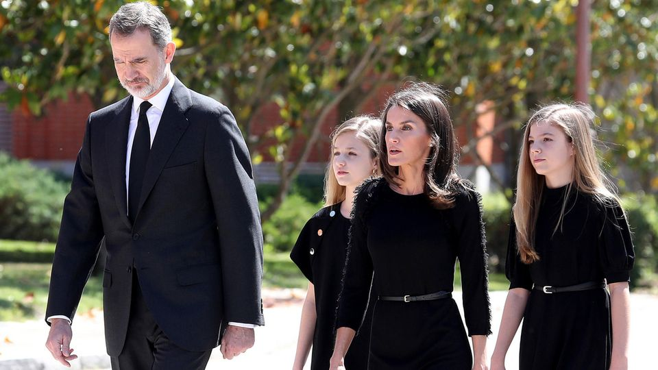 König Felipe, Prinzessin Leonor, Königin Letizia und Prinzessin Sofia