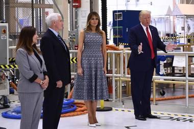Melania Trump in Manolo Blahnik Pumps