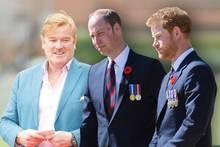 Mark Dyer (l.) ist ein enger Vertrauter von Prinz William und Prinz Harry.
