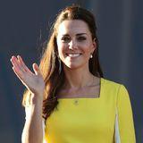 … Schon 2014 trug Catherine beim Besuch in Sydney das gelbe Kleid aus dem HauseRoksanda Ilincic. Eine schöne Botschaft!