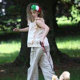Derweil dreht ihre ältere Schwester Sole eine Runde mit Teacup-Pudel Leone.
