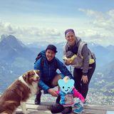 1. Juni 2020  Mit diesem schönen Familienfoto via Instagram senden die beiden Ski-Stars Felix und Miriam Neureuther Pfingstgrüße von ihrem Ausflug in dieBerge.