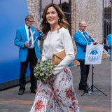 Prinzessin Mary im sommerlichen Business-Look