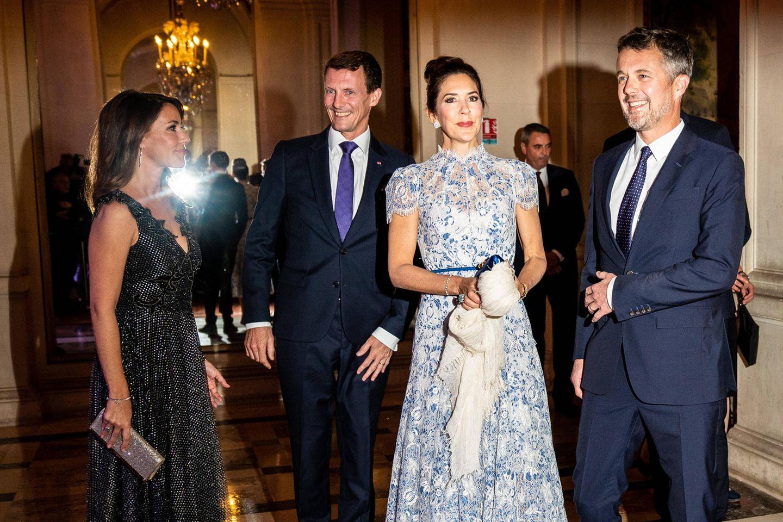 Die dänischen Royals Prinzessin Marie, Prinz Joachim, Prinz Frederik und Prinzessin Mary (v.l.n.r.)