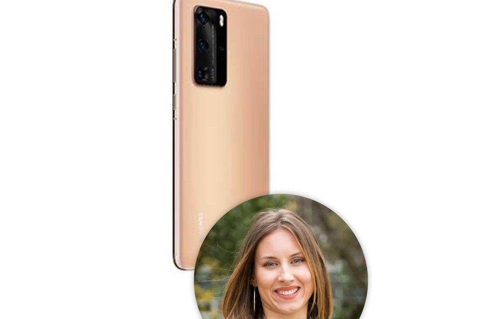 Das Huawei P40 Pro ist nicht nur super praktisch sondernauch echt stylish, wie Kollegin Lara findet