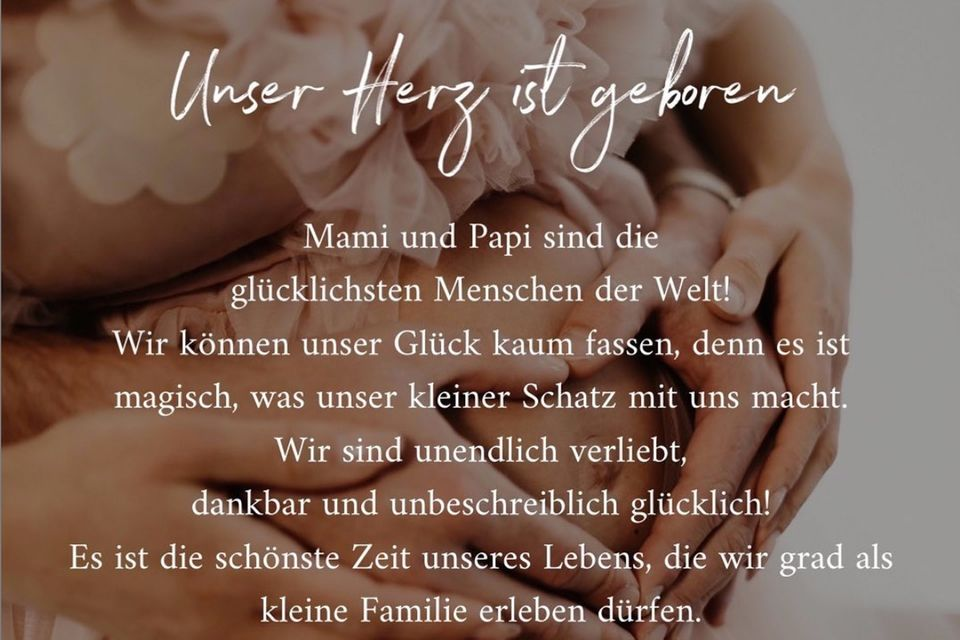 Angelina Pannek und Sebastian Pannek freuen sich über ihr erstes gemeinsames Kind.
