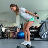 Wow, was für Beine! Ana Ivanovic lässt ihre Follower an ihrem Workout teilhaben und dabei fallen besonders die schlanken, super muskulösen Beine der Ex-Tennisspielerin auf.