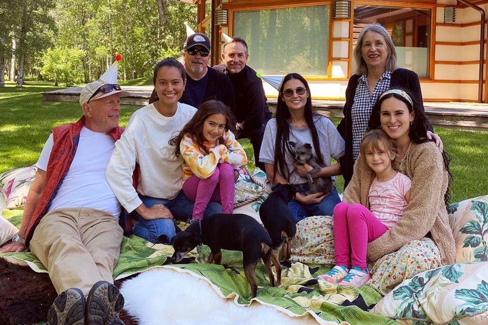 Bruce Willis und Demi Moore mit ihrer Patchwork-Familie