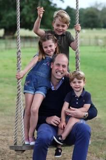 Prinz William mit George, Charlotte und Louis