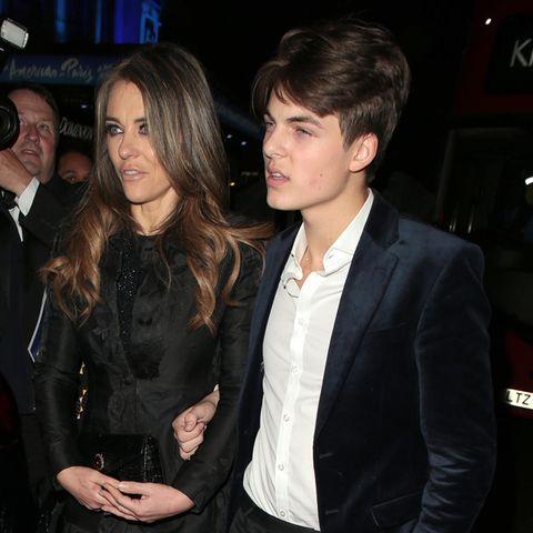Liz Hurley und Sohn Damian Hurley