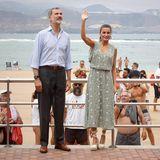 Königin Letizia trägt Zara Kleid