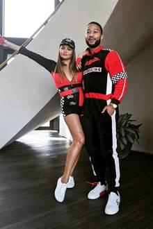 Chrissy Teigen und John Legend im Rennfahrer-Partnerlook