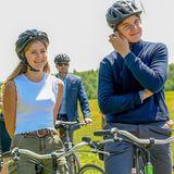 Der Ausflug zum Start der Sommerferien bereitet Prinzessin Elisabeth, Prinz Gabriel und Prinzessin Eleonore sichtlich Freude.