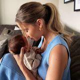 28. Juni 2020  Familie Götze im Babyglück! Neu-Mama Ann-Kathrin Götze veröffentlicht einen ersten, zuckersüßenSchnappschuss mit Söhnchen Rome, den sie zärtlich in den Armen hält.