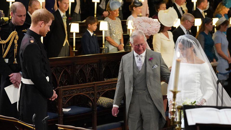 Prinz William, Prinz Harry, Prinz Charles und Herzogin Meghan