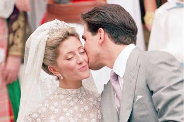 Der Kuss, der sie zur Prinzessin machte: Marie-Chantal und Pavlos heirateten am 01. Juli 1995.