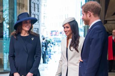 Prinz William, Herzogin Catherine, Herzogin Meghan und Prinz Harry