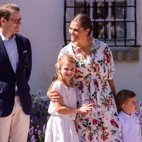 Prinzessin Victoria, Prinz Daniel, Prinzessin Estelle undPrinz Oscar