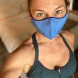 Jennifer Morrison hat eine Maske gefunden, mit der sie auch ohne Probleme trainieren kann.