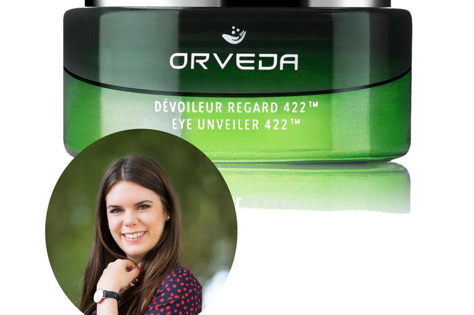 """Wohltuendes für die sensible Augenpartie: Online-Redakteurin Jessica hat """"Eye Unveiler 422"""" von Orveda getestet."""