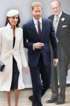 Herzogin Meghan, Prinz Harry und Prinz Philip