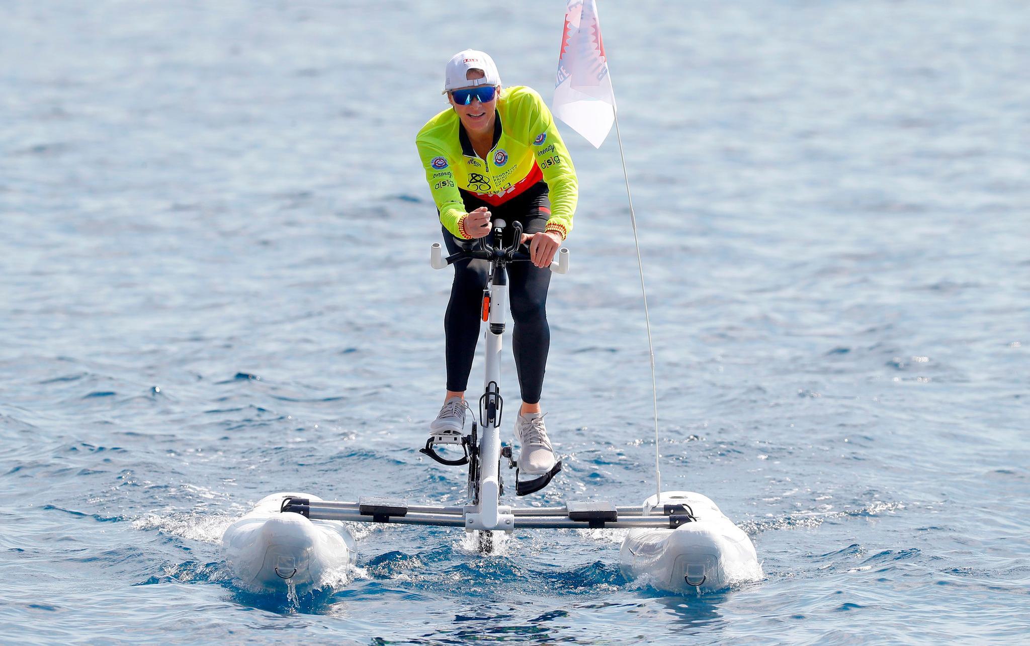 """Fürstin Charlène bei der """"Riviera Water Bike Challeng"""" am 17. Juni 2018 in Monaco."""