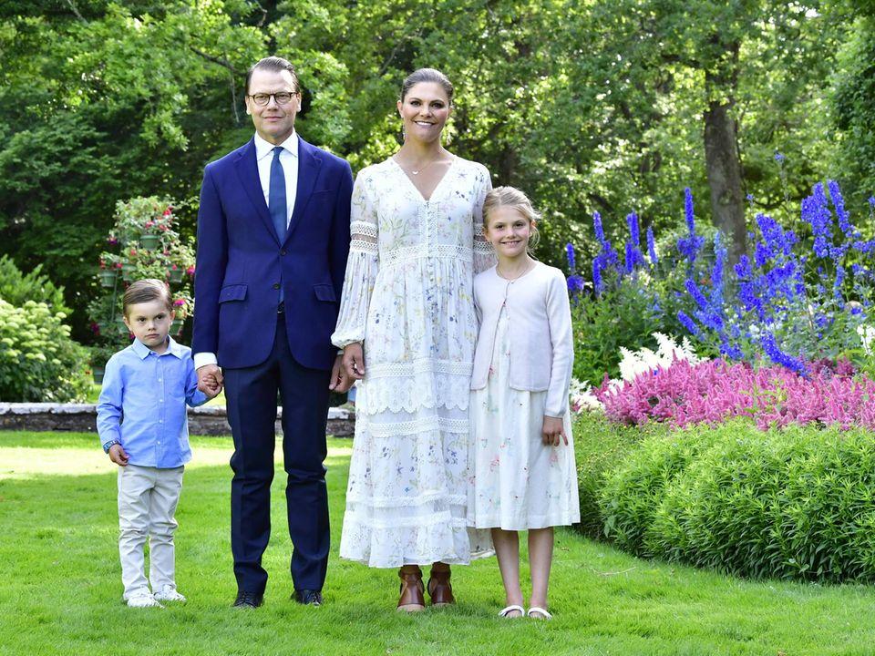 Prinz Oscar, Prinz Daniel, Prinzessin Victoria und Prinzessin Estelle