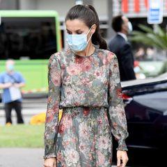Königin Letizia recycelt ihr geblümtes Zara-Kleid
