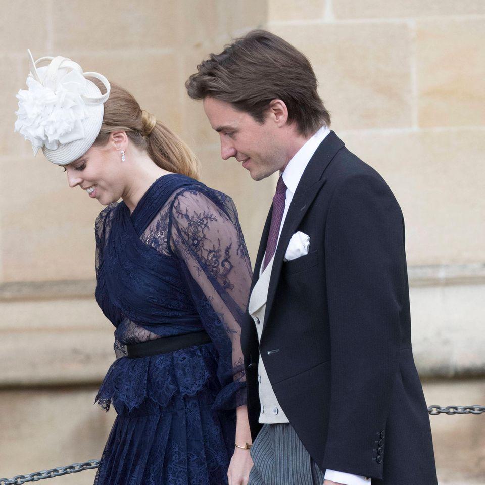 Prinzessin Beatrice und Edoardo Mapelli Mozzi im Jahr 2019 bei einer Hochzeit. Jetzt sind sie selbst Mann und Frau.