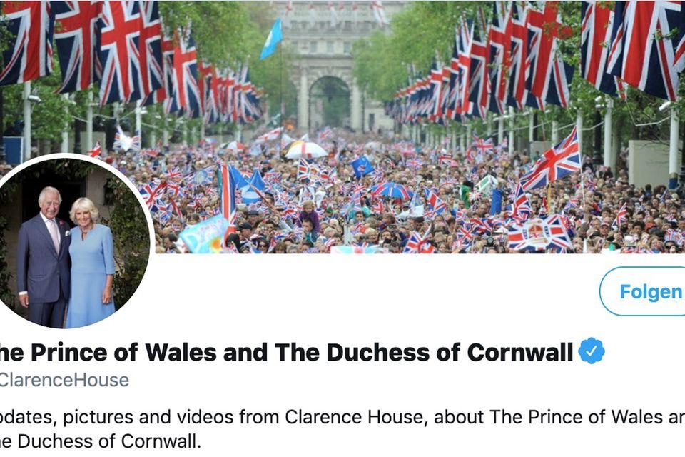 Der offizielle Twitter-Account von Prinz Charles und Herzogin Camilla