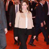 Königin Letizia von Spanien hat sich ebenfalls für einen gewagten Look an den Füßen entschieden. Bei der Eröffnung der 38. Internationalen Tourismusmesse in Madrid 2018 setzt sie zwar nicht auf tierische Muster ...