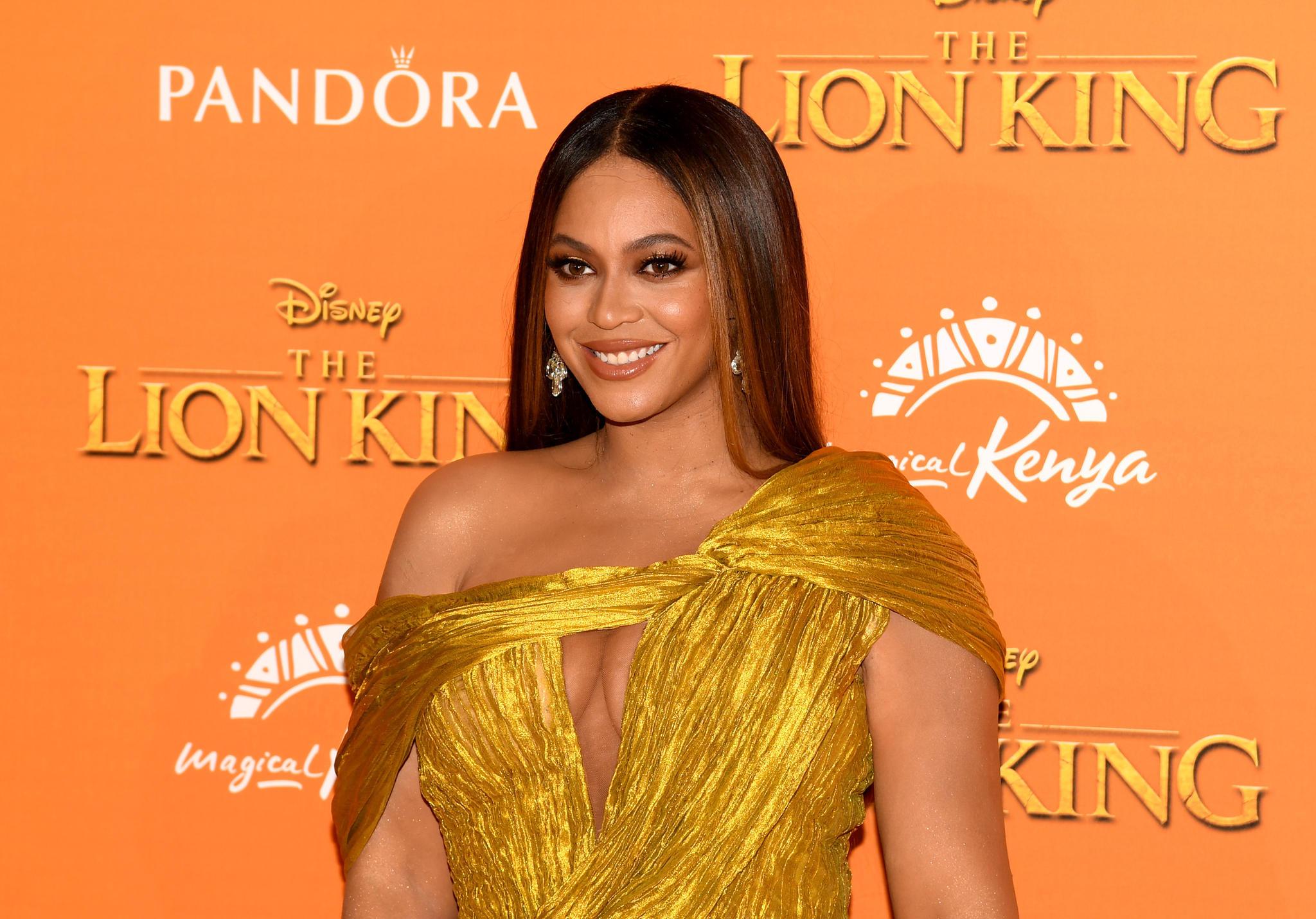 """Beyoncé bei der Europa-Premiere von Disney's """"Der König der Löwen"""" in London."""
