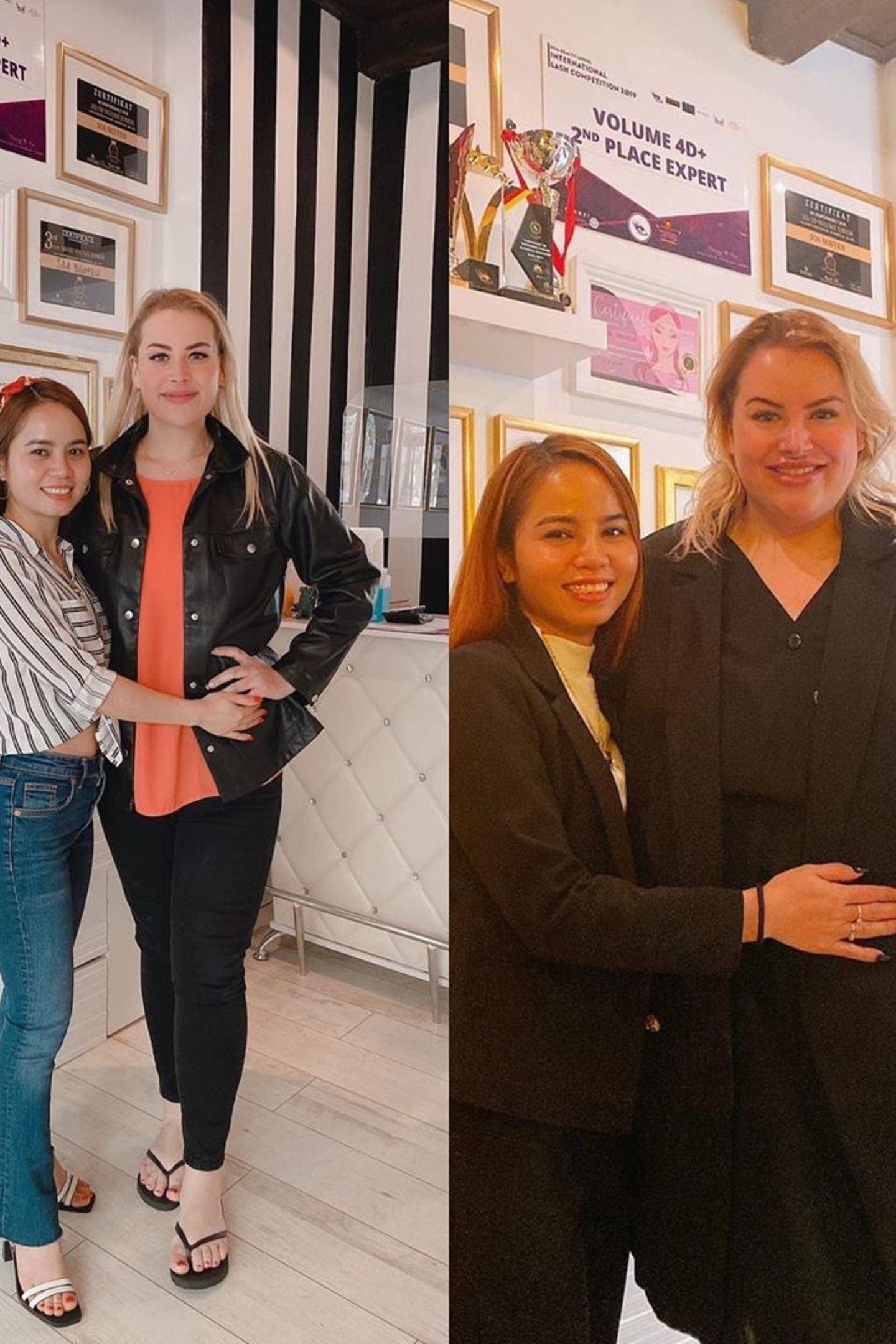 Zwischen diesen Fotos von DSDS-Teilnehmerin Aline Bachmann liegen neun knallharte Monate und 75 Kilo Gewichtsverlust. Die ambitionierte Dresdnerin plant, noch mehr abzuspecken - doch schon jetzt ist sie eine völlig neue, glücklicheund gesunde Frau.