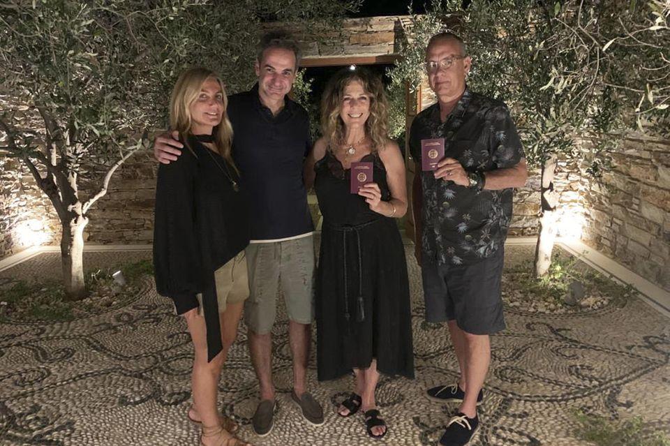 Rita Wilson und Ehemann Tom Hanks haben sogar die griechische Staatsburgerschaft.