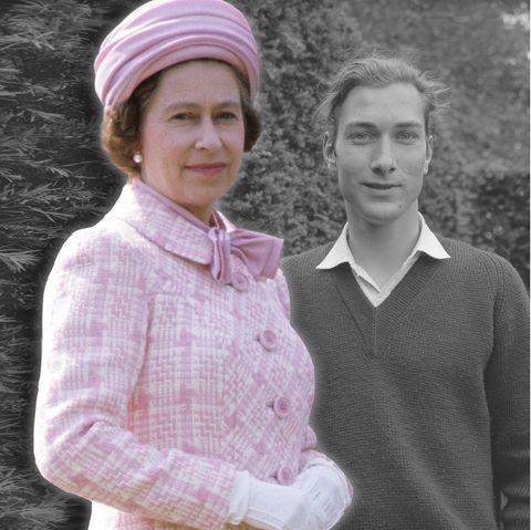 Queen Elizabeth undihr Cousin Prinz William von Gloucester (Foto-Collage).