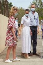 Prinzessin Leonor, Königin Letizia und König Felipe bei einem Termin am 11. August in Palma.
