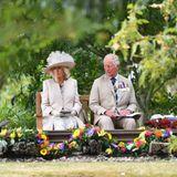 """Der """"Victory Over Japan Day"""" ist der Tag der Kapitulation Japans im Zweiten Weltkrieg am 15. August 1945. In einer feierlichen Zeremonie, bei der auch Premierminister Boris Johnson anwesend ist,schließen sich die Mitglieder der königlichen Familie amJahrestag denzahlreichen Veteranen und Militärangehörigen an."""