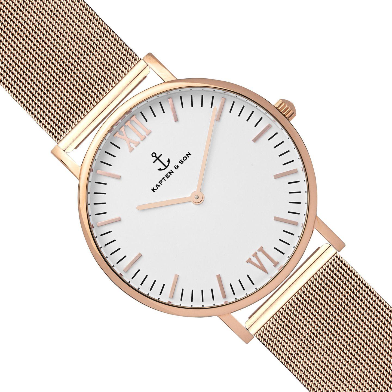 Armbanduhr Campina/Campus gold/weiß