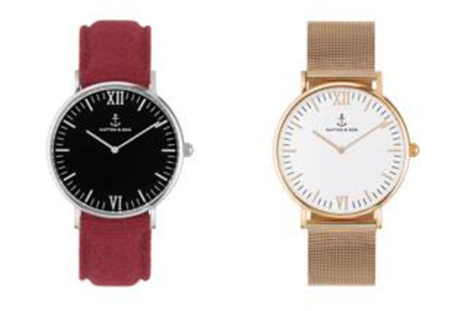 Armbanduhren Campina/Campus rot/schwarz und gold/weiß