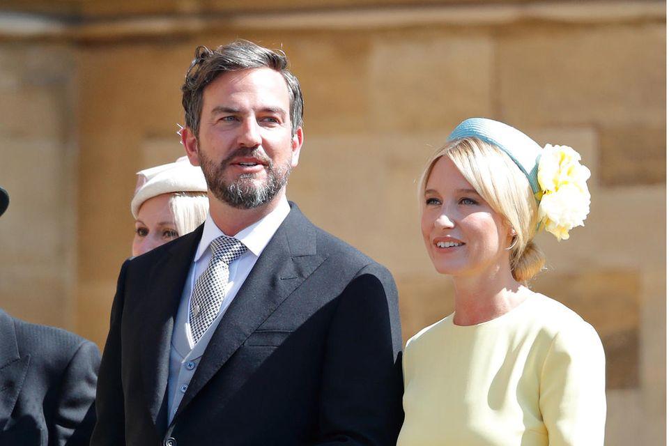 Markus Anderson und Izzy May am 19. Mai 2018 bei der Ankunft zur Hochzeit von Harry und Meghan.