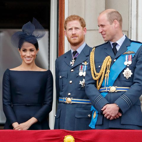 Herzogin Meghan, Prinz Harry und Prinz William