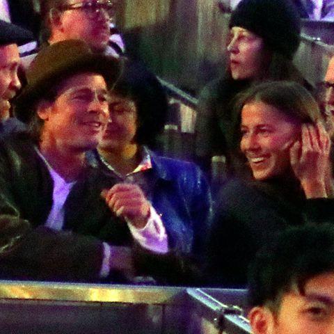 Brad Pitt undNicole Poturalski