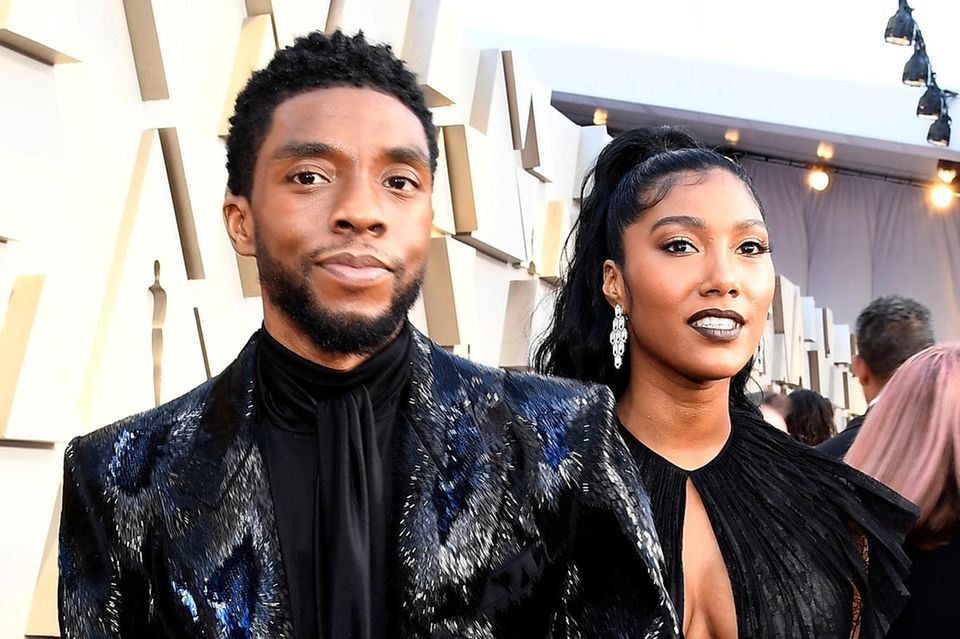 Chadwick Boseman und Taylor Simone Ledward